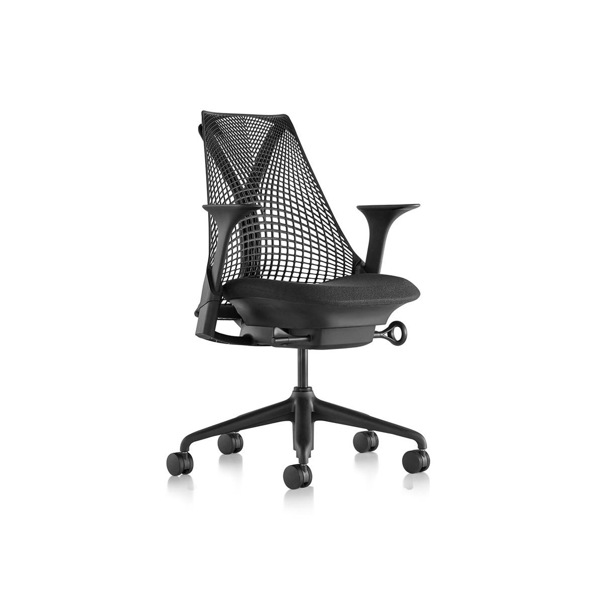 Herman-Miller-Yves-Béhar-Sayl®-Office-Chair-Y-Tower/Black-Matisse-1